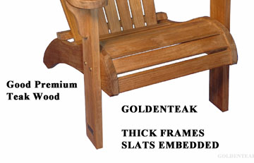 Good Construction methods By Goldenteak Teak Adirondack Chair