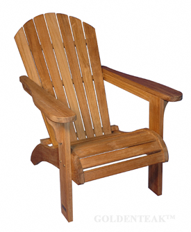 Teak Adirondack Chair Goldenteak